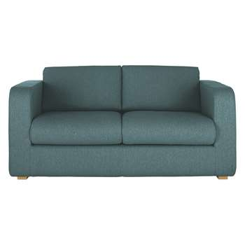 Porto Teal Blue Fabric 2 Seater Sofa Bed - 82 x 172cm