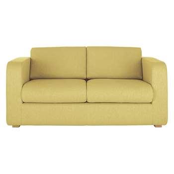 Porto Yellow Fabric 2 Seater Sofa Bed - 82 x 172cm