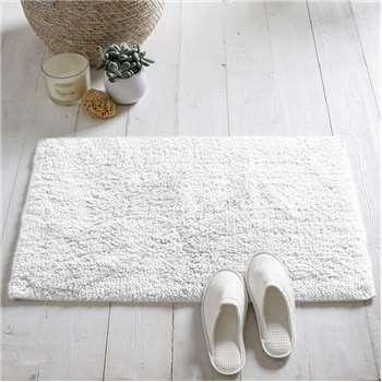 Portobello Bath Mat, White (50 x 80cm)