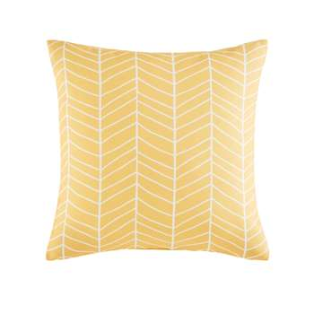 PORTOFINO Yellow Outdoor Cushion with Graphic Motifs (45 x 45cm)