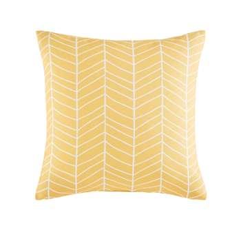 PORTOFINO Yellow Outdoor Cushion with Graphic Motifs (45 x 45cm)