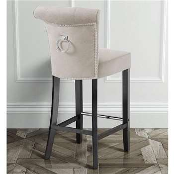 Positano Bar stool with Back Ring - Cream (109 x 48cm)