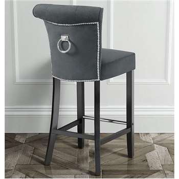 Positano Bar stool with Back Ring - Smoke (109 x 48cm)