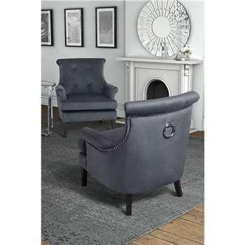 Positano Lounge Armchair - Storm Grey (80 x 90cm)