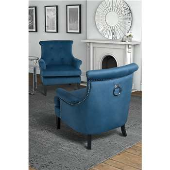 Positano Lounge Armchair - Wedgewood Blue (80 x 90cm)