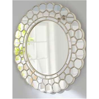 Pottery Barn Kids Circle Blossom Mirror, Silver (H73.6 x W74.9cm)