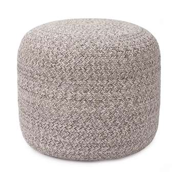 Shopal Cotton Pouf, Grey (H43 x W36 x D36cm)