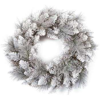 Premier Decorations Silver Tip Wreath (H50 x W50 x D15cm)
