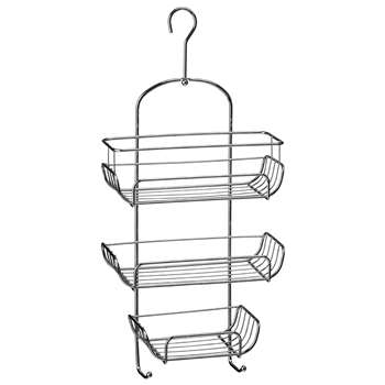Premier Housewares 3 Tier Shower Caddy - Chrome (52 x 25cm)