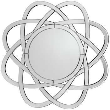 Premier Housewares Globe Shaped Wall Mirror (H82 x W82 x D1cm)