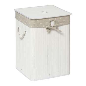 Premier Housewares Kankyo Square Laundry Hamper - White 50 x 35cm