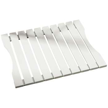 Premier Housewares Slatted White Wood Duckboard 40 x 49cm
