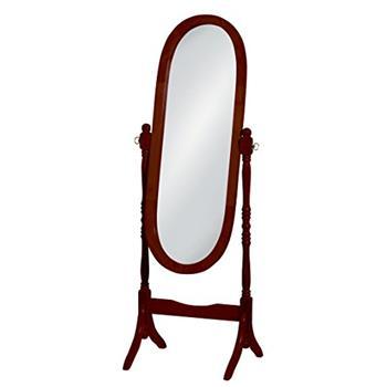 Premier Housewares Wooden Cheval Mirror - Mahogany