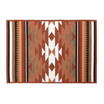 PRIA Terracotta Outdoor Rug with Graphic Print (H133 x W200cm)