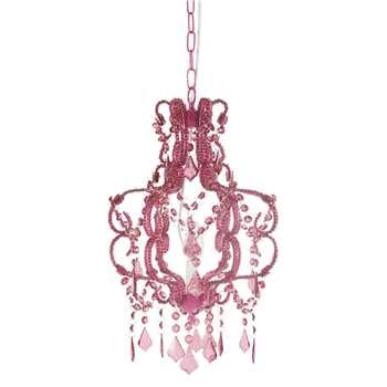Princess fuchsia chandelier (Diameter 30cm)