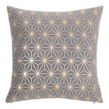 Printed Blue and Gold Cushion Cover (H40 x W40cm)