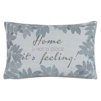 Printed Grey Cotton Cushion Cover (H30 x W50cm)