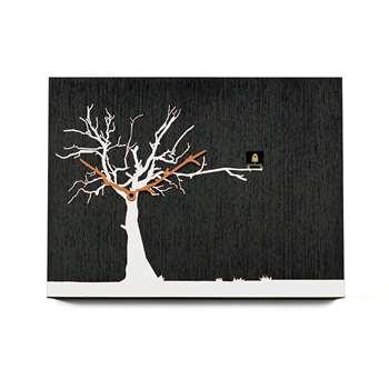 Progetti - Cucuruku Wall Clock - Black/White (H30 x W40 x D10cm)