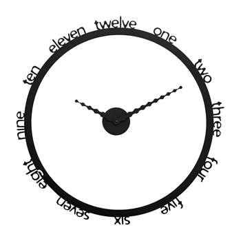Progetti - Hoop Wall Clock - Black (H69 x W69cm)
