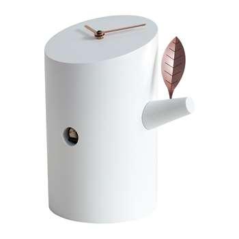 Progetti - Nido Desk Cuckoo Clock - White (H24 x W20cm)