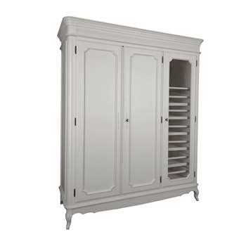Provencale Dove Grey 3 Door 6 Drawer Wardrobe (200 x 170cm)