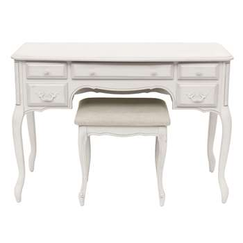 Provencale Dove Grey Dressing Table & Stool Set