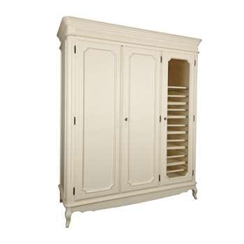 Provencale Ivory 3 Door 6 Drawer Wardrobe (200 x 170cm)