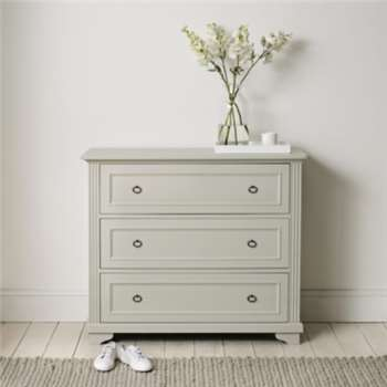 Provence 3 Drawer Chest Of Drawers - Pale Grey (Width 112cm)