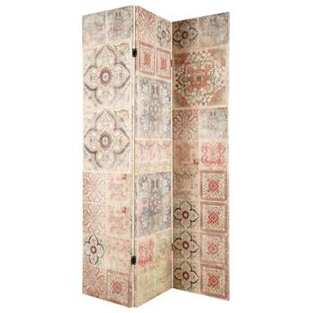 PROVENCE Printed 3-Panel Folding Screen (H180 x W121 x D2cm)