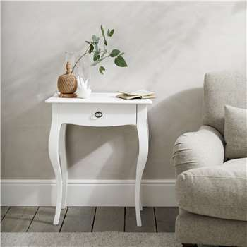 Provence Side Table, White (H72 x W59 x D40cm)