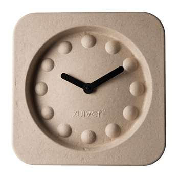 Pulp Square Time Clock 36 x 36cm