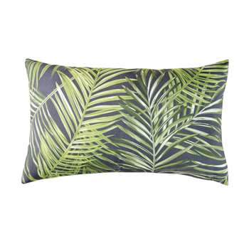 PUNTARENA Green Outdoor Cushion with Foliage Print (H30 x W50 x D10cm)