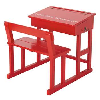 PUPITRE Wooden child's desk in red W 65cm