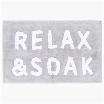 Pure Cotton Relax Slogan Bath Mat (H50 x W80cm)