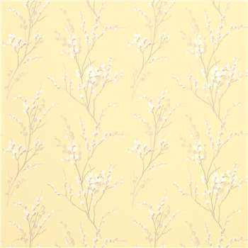 Pussy Willow Camomile Floral Wallpaper