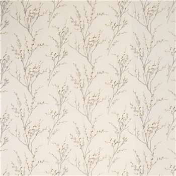 Pussy Willow Dove Grey Floral Wallpaper