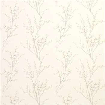 Pussy Willow Off White/Dove Grey Floral Wallpaper