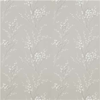 Pussy Willow Steel Floral Wallpaper