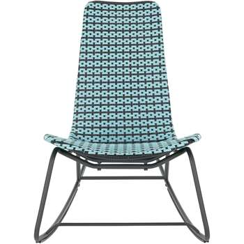 Pya Garden Rocker, Cadillac Blue and Black (87 x 66cm)