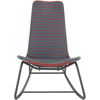 Pya Garden Rocker, Rust Red and Blue (87 x 66cm)