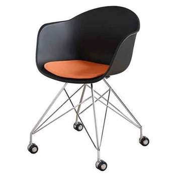 Pylon Desk Chair - Black (80 x 60cm)
