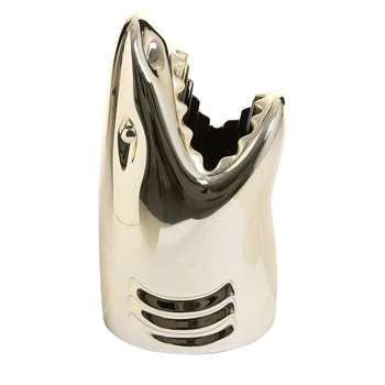 Qeeboo - Killer Shark Umbrella Stand - Gold Metal (Height 65.5cm)
