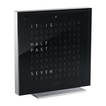 QLOCKTWO - QLOCKTWO Touch Alarm Clock - Black Ice Tea (H13.5 x W13.5cm)