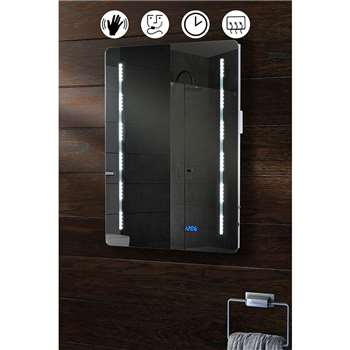 Quartz Illuminated LED Bathroom Mirror (70 x 50cm)