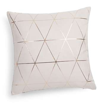QUEENS Beige/Gold Cushion (H40 x W40 cm)