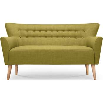 Quentin 2 Seater Sofa, Lemongrass Green (90 x 156cm)