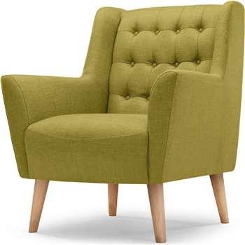 Quentin Armchair, Lemongrass Green (95 x 82cm)