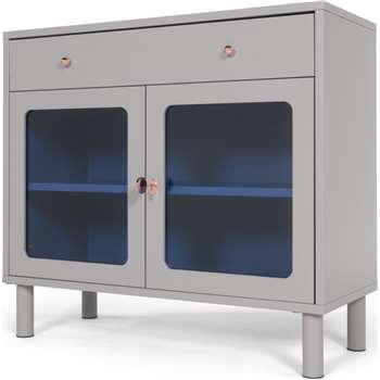 Quin Compact Cabinet, Grey (90 x 100cm)