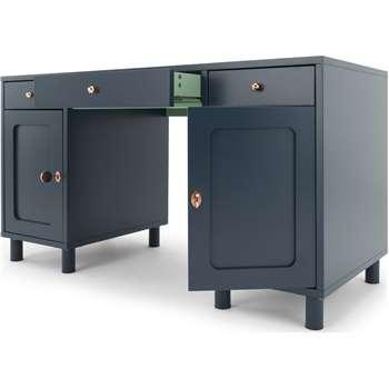 Quin Desk, Blue (H76 x W140 x D60cm)