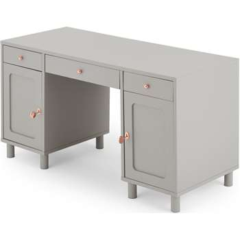 Quin Desk, Grey (H76 x W140 x D60cm)
